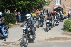 Bikes starting the rally