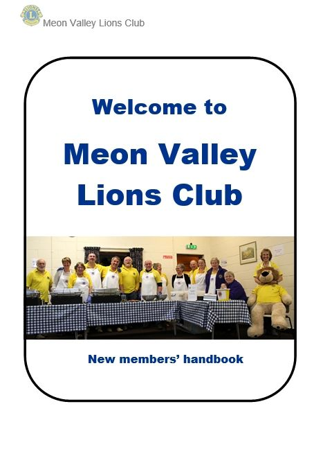 Membership booklet front cover