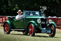 A classic car at the fete